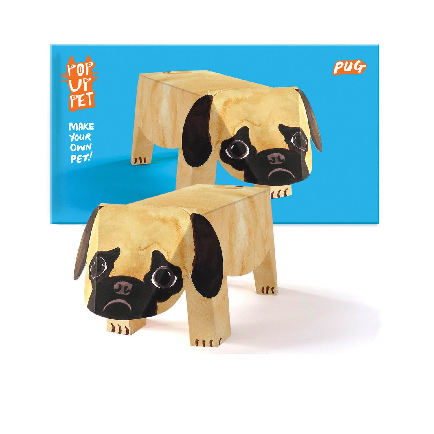 Dog Krazy Gifts - Pug Pop Up Pet, part of the range of Pug themed gifts available from DogKrazyGifts.co.uk