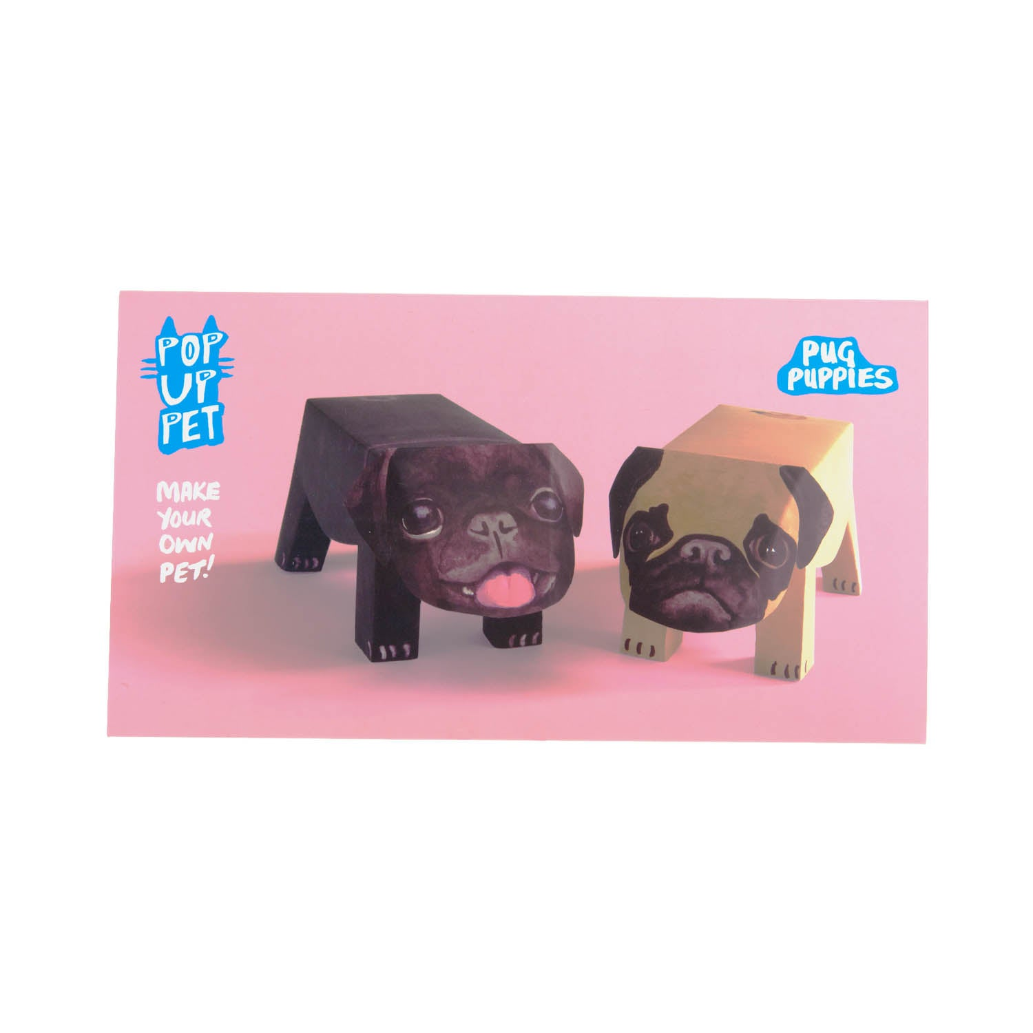 Dog Krazy Gifts - Pug Pop Up Puppies, part of the range of Pug themed gifts available from DogKrazyGifts.co.uk
