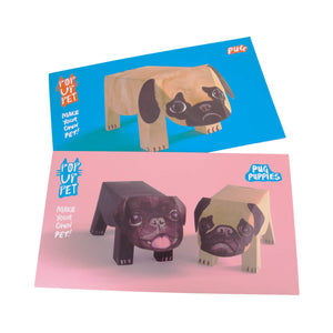 Dog Krazy Gifts - Pug Pop Up Pet and Pug Pop Up Puppies, part of the range of Pug themed gifts available from DogKrazyGifts.co.uk