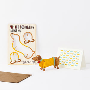 Dog Lover Gifts available at Dog Krazy Gifts – Pop Out Sausage Dog Greeting Card, available at www.dogkrazygifts.co.uk
