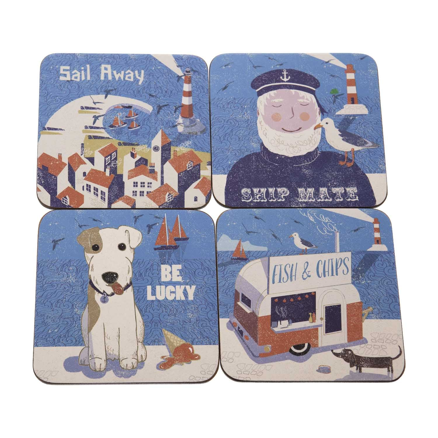 Dog Lover Gifts available at Dog Krazy Gifts – Jill White Rocket68 Ahoy Coasters available at www.dogkrazygifts.co.uk