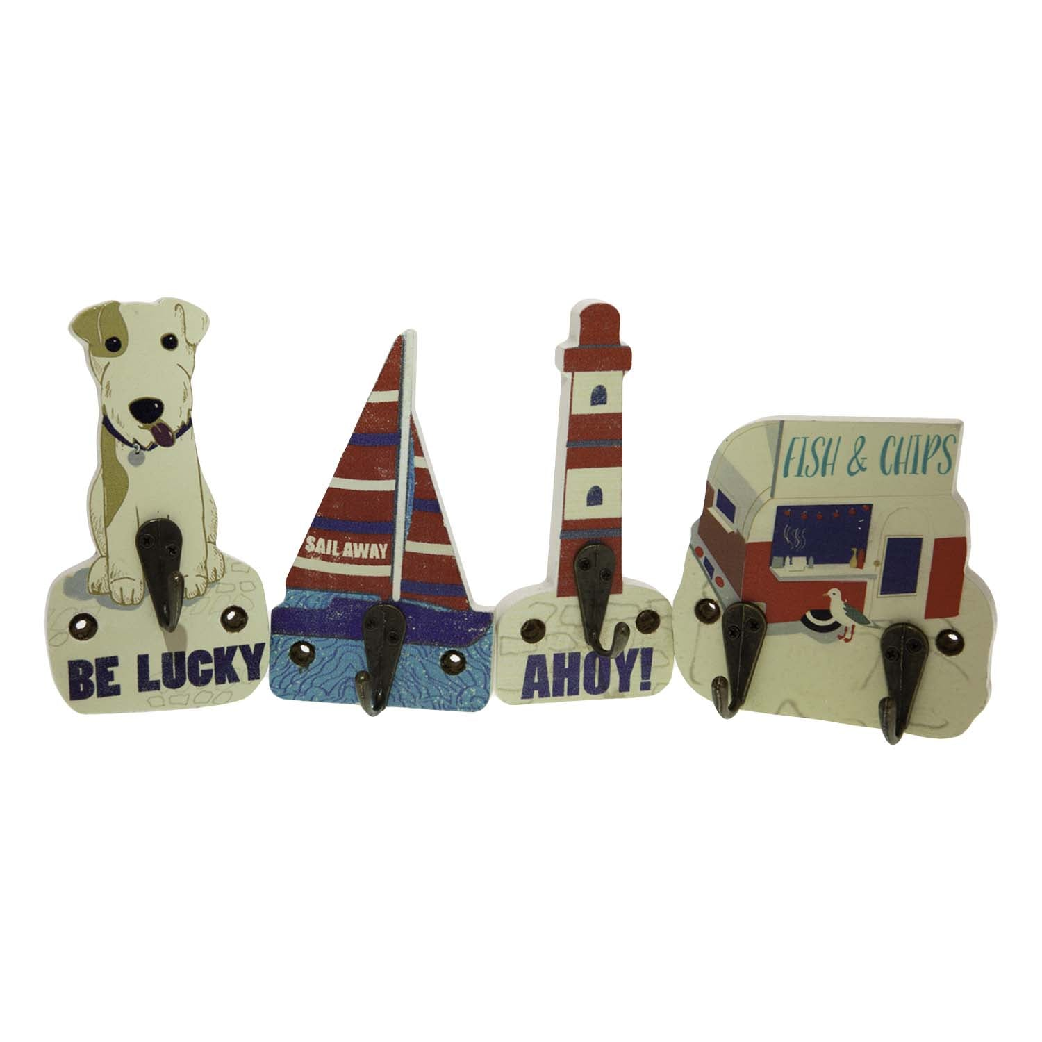 Dog Lover Gifts available at Dog Krazy Gifts – Jill White Rocket68 Ahoy Hooks Set of 4 available at www.dogkrazygifts.co.uk
