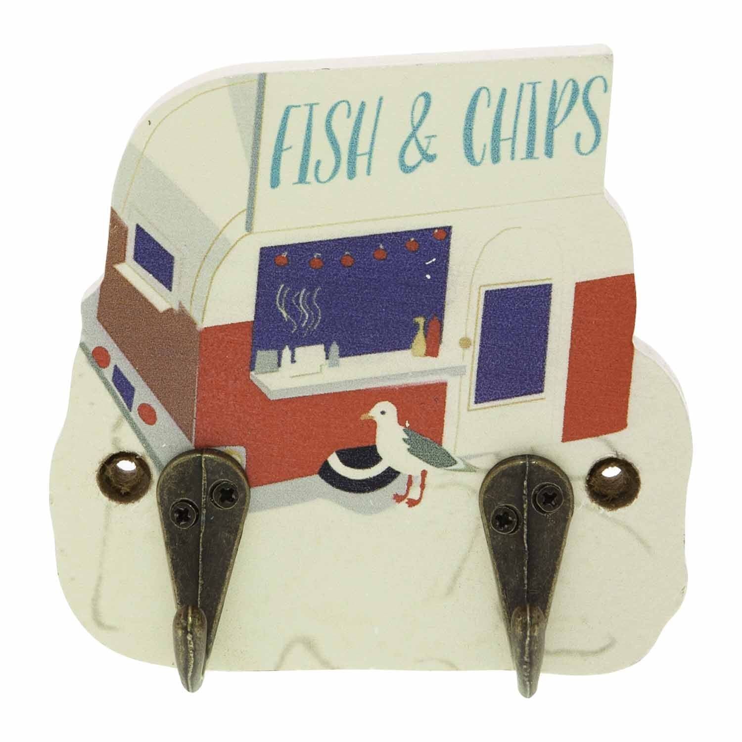 Dog Lover Gifts available at Dog Krazy Gifts – Jill White Rocket68 Ahoy Fish and Chip Van Hook Part Of The Set of 4 available at www.dogkrazygifts.co.uk