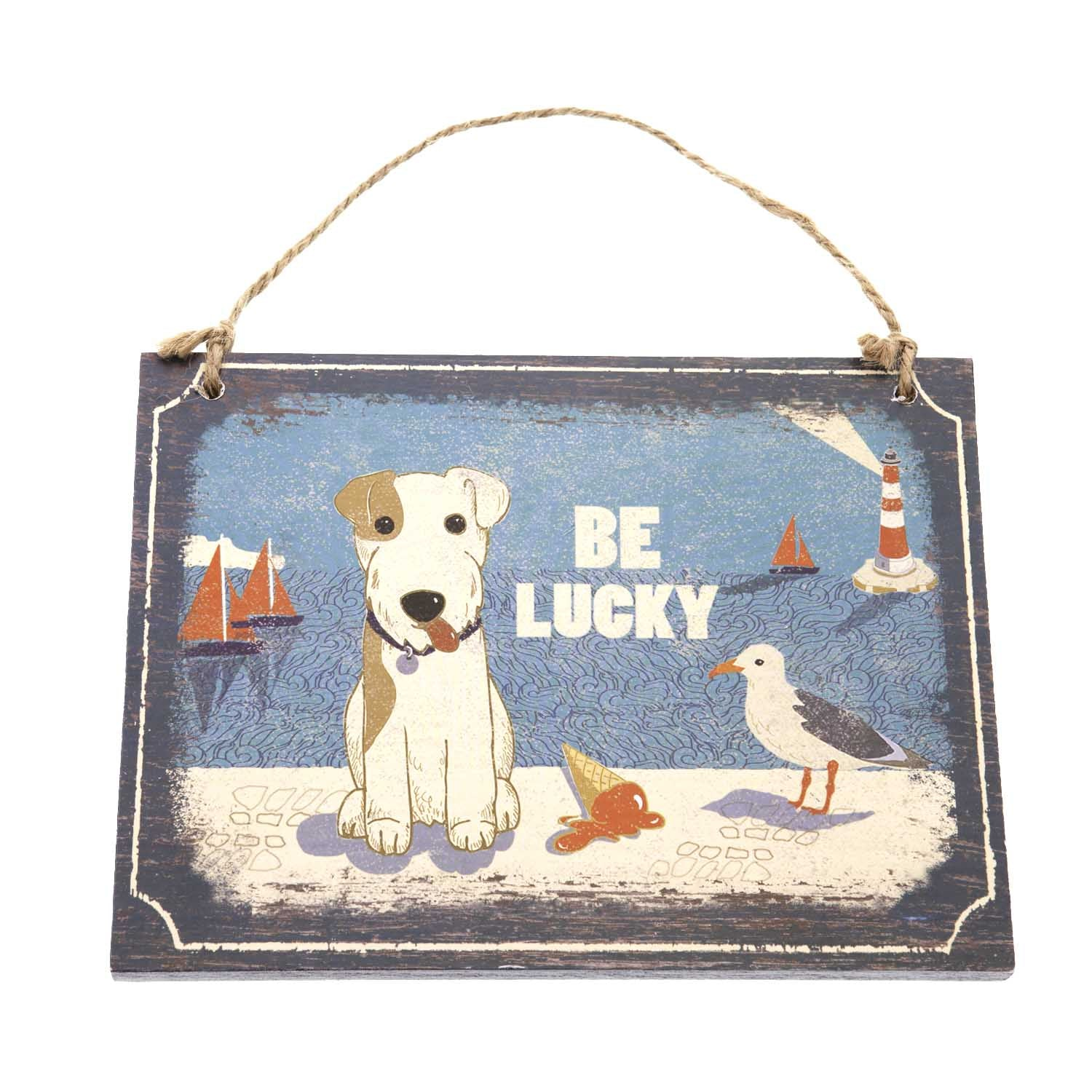 Dog Lover Gifts available at Dog Krazy Gifts – Jill White Rocket68 Ahoy Hanging Wooden Sign available at www.dogkrazygifts.co.uk