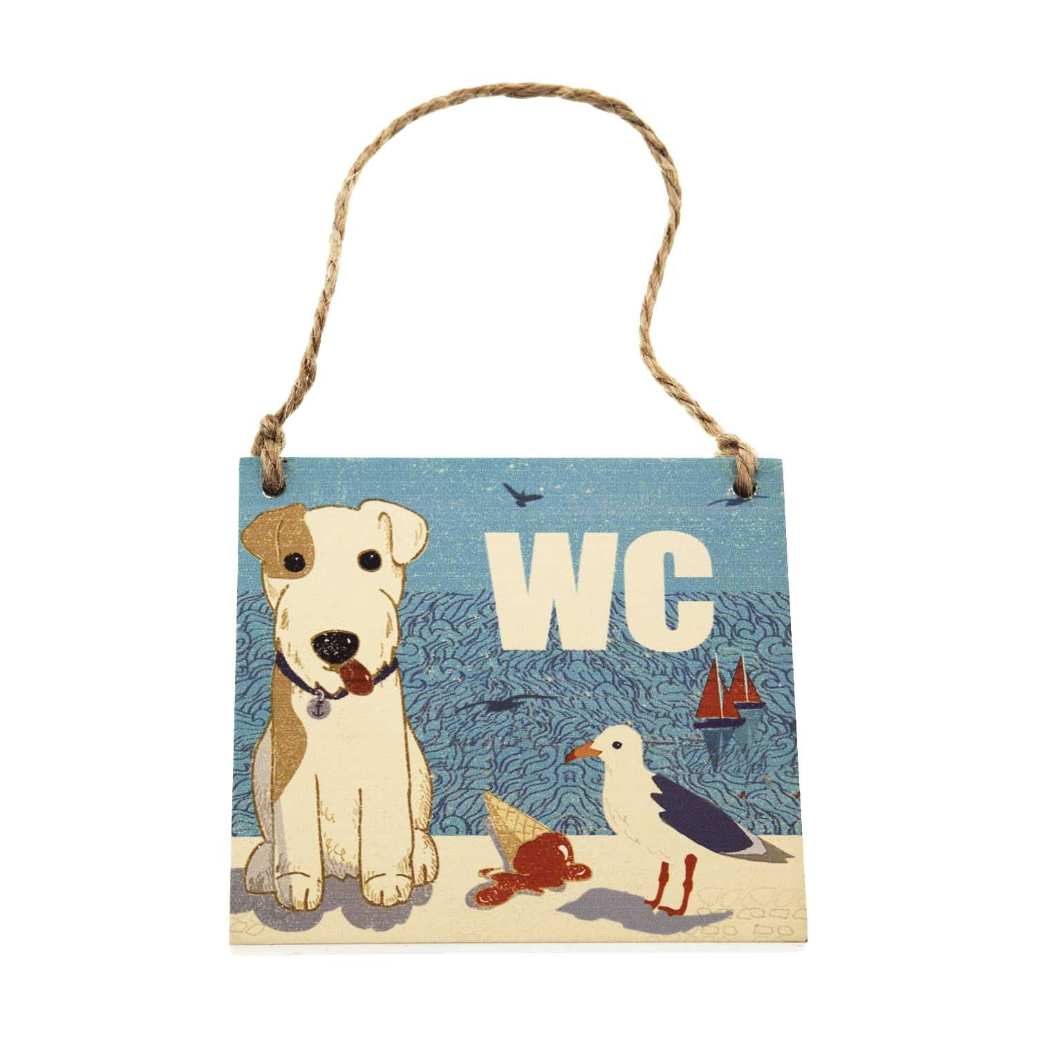 Dog Lover Gifts available at Dog Krazy Gifts – Jill White Rocket68 Ahoy WC Sign available at www.dogkrazygifts.co.uk