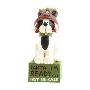 Dog Krazy Gifts - Santa I'm Ready Figurine, Part Of The Christmas collection available from DogKrazyGifts.co.uk