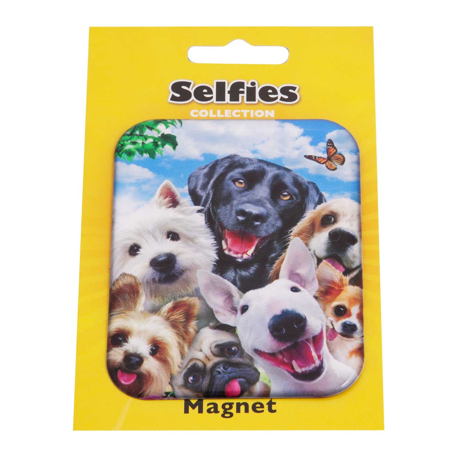 Dog Krazy Gifts - Dog Selfie Fridge Magnet part of the wide range of Dog Themed Presents available from DogKrazyGifts.co.uk