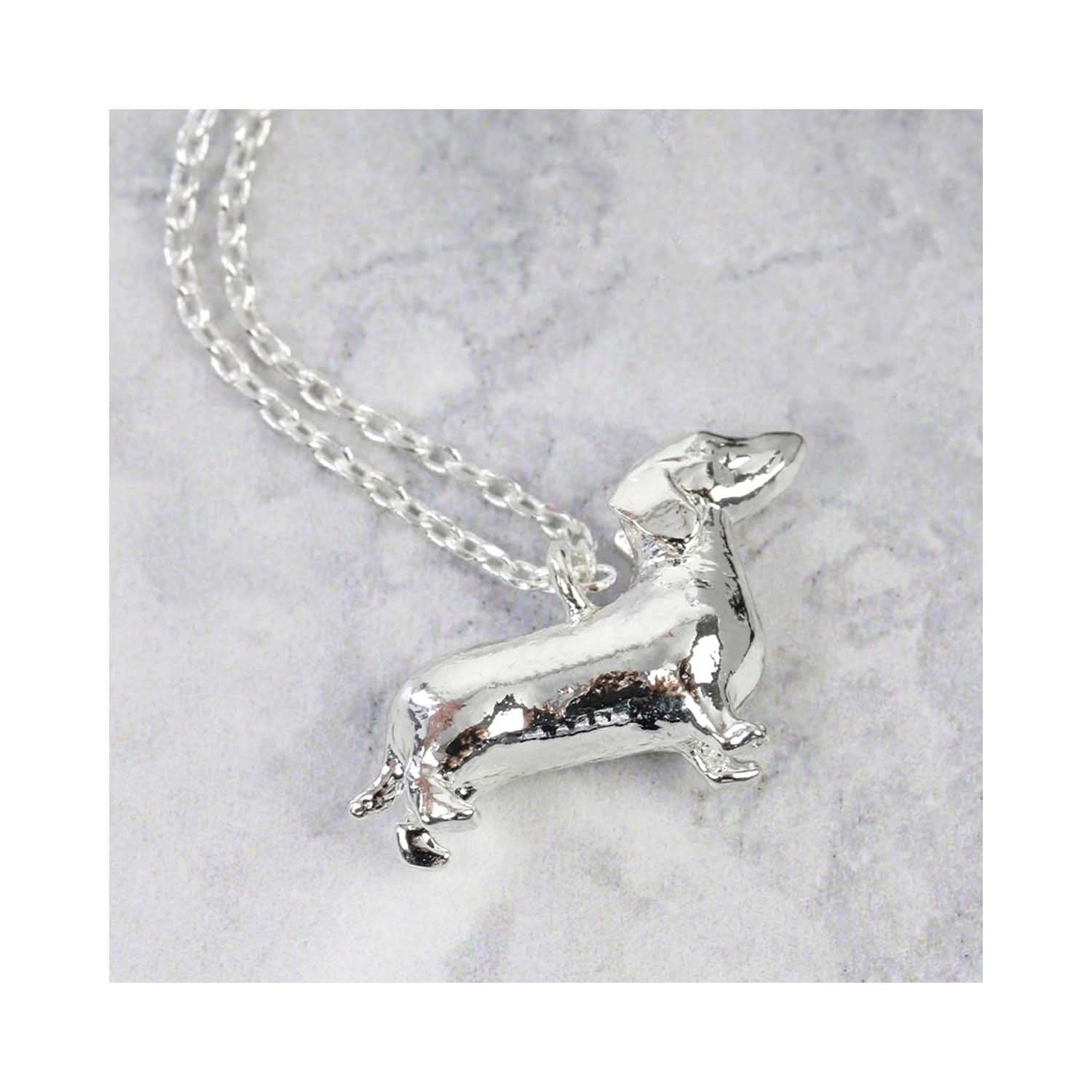 Dog Krazy Gifts - Silver Dachshund Pendant Necklace, part of the Lisa Angel range available from DogKrazyGifts.co.uk
