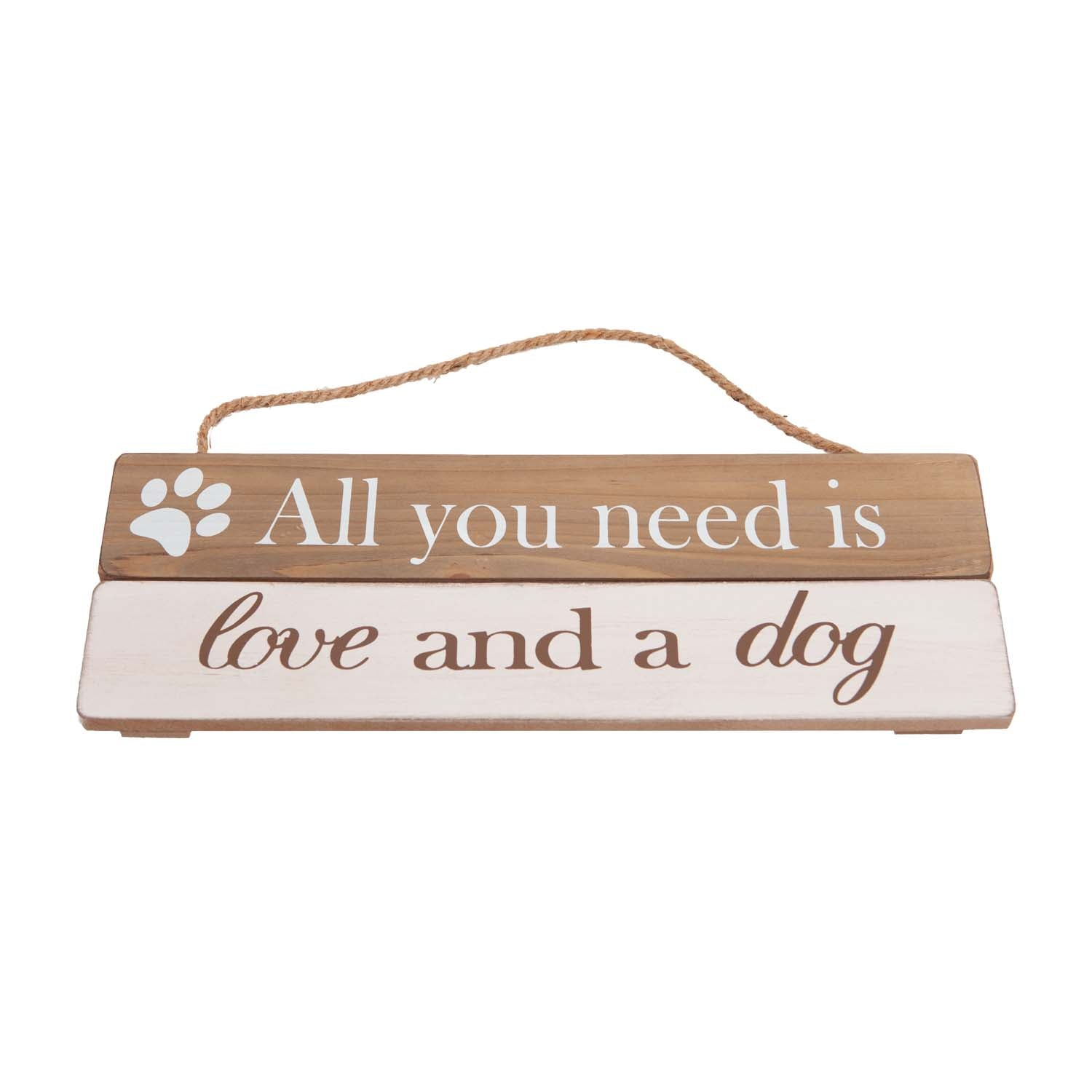 Dog Lover Gifts available at Dog Krazy Gifts – All You Need Is Love And A Dog Soft Wood Sign, Just Part Of Our Collection Of Signs Available At www.dogkrazygifts.co.uk