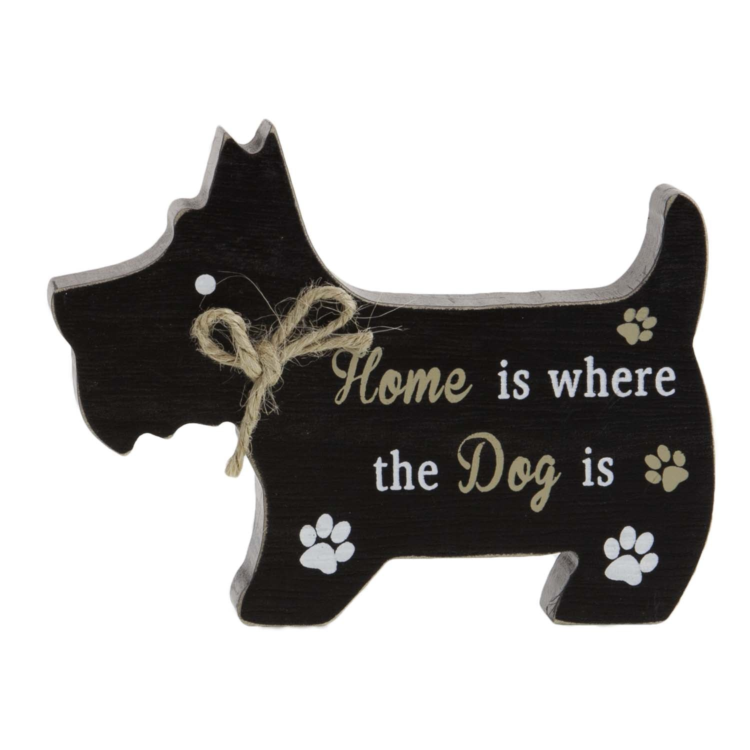 Dog Lover Gifts available at Dog Krazy Gifts – Scottie Dog Standing Dog Sign, Home is Where the Dog is, Just Part Of Our Collection Of Signs Available At www.dogkrazygifts.co.uk
