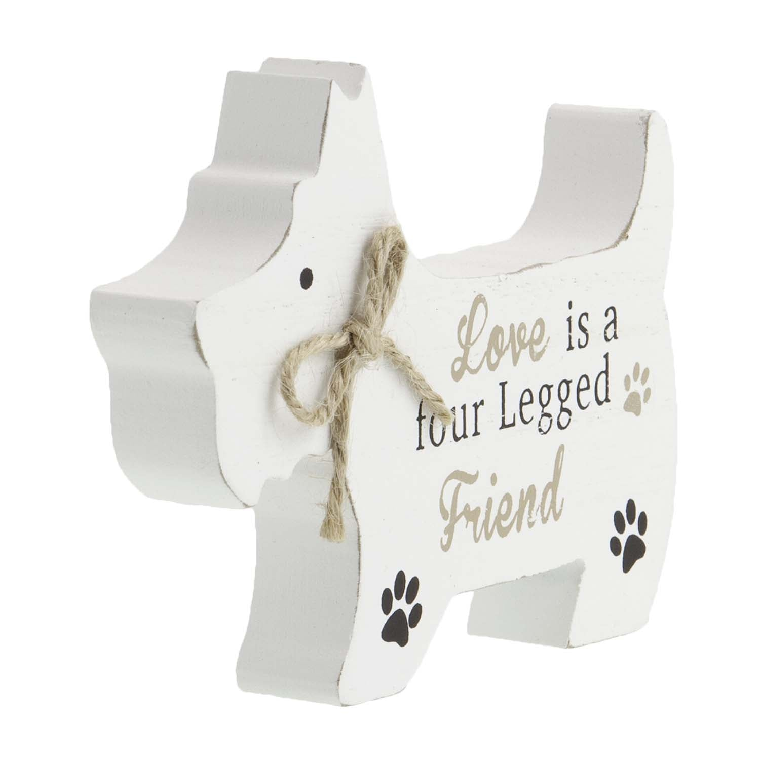 Dog Lover Gifts available at Dog Krazy Gifts – Westie Standing Dog Sign, Love is a Four Legged Friend, Just Part Of Our Collection Of Signs Available At www.dogkrazygifts.co.uk