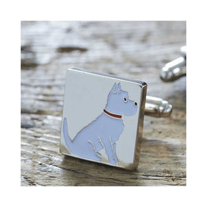 Dog Lover Gifts available at Dog Krazy Gifts - Frank the West Highland Terrier Cufflink and Dog Tag Set - part of the Sweet William range available from DogKrazyGifts.co.uk