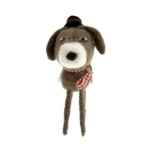 Dog Krazy Gifts - Woollen Brown Dog Ornament, Part Of The Christmas collection available from DogKrazyGifts.co.uk