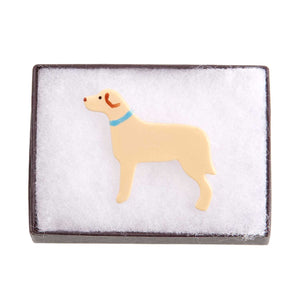 Dog Lover Gifts available at Dog Krazy Gifts – Ceramic Yellow Labrador Brooch by Mary Goldberg of Stockwell Ceramics, Just Part Of Our Collection Of Labrador Themed Gifts, Available At www.dogkrazygifts.co.uk