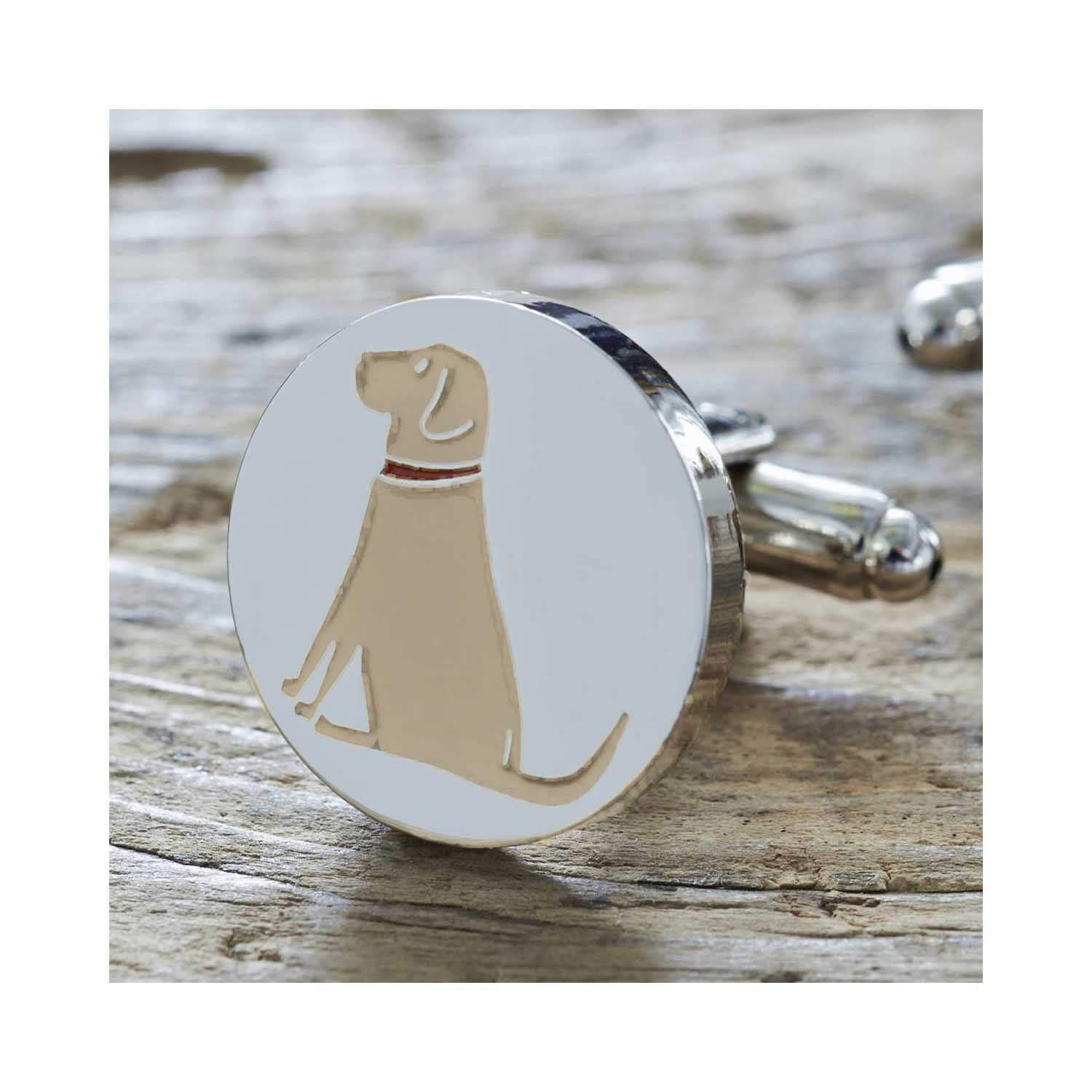 Dog Lover Gifts available at Dog Krazy Gifts - Daisy The Yellow Labrador Cufflink and Dog Tag Set - part of the Sweet William range available from DogKrazyGifts.co.uk