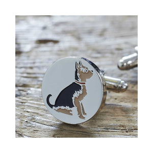 Dog Lover Gifts available at Dog Krazy Gifts - Ella The Yorkshire Terrier Cufflink and Dog Tag Set - part of the Sweet William range available from DogKrazyGifts.co.uk