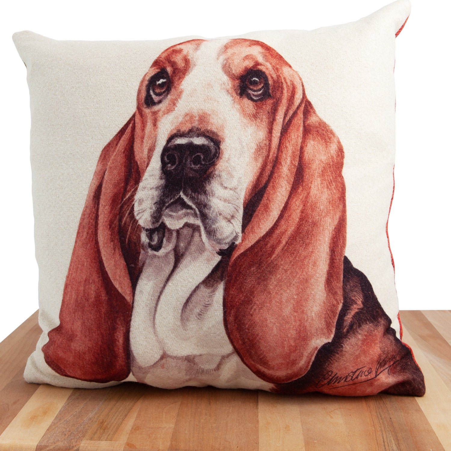 Dog Lover Gifts available at Dog Krazy Gifts. Basset Hound Cushion, part of our Christine Varley collection – available at www.dogkrazygifts.co.uk