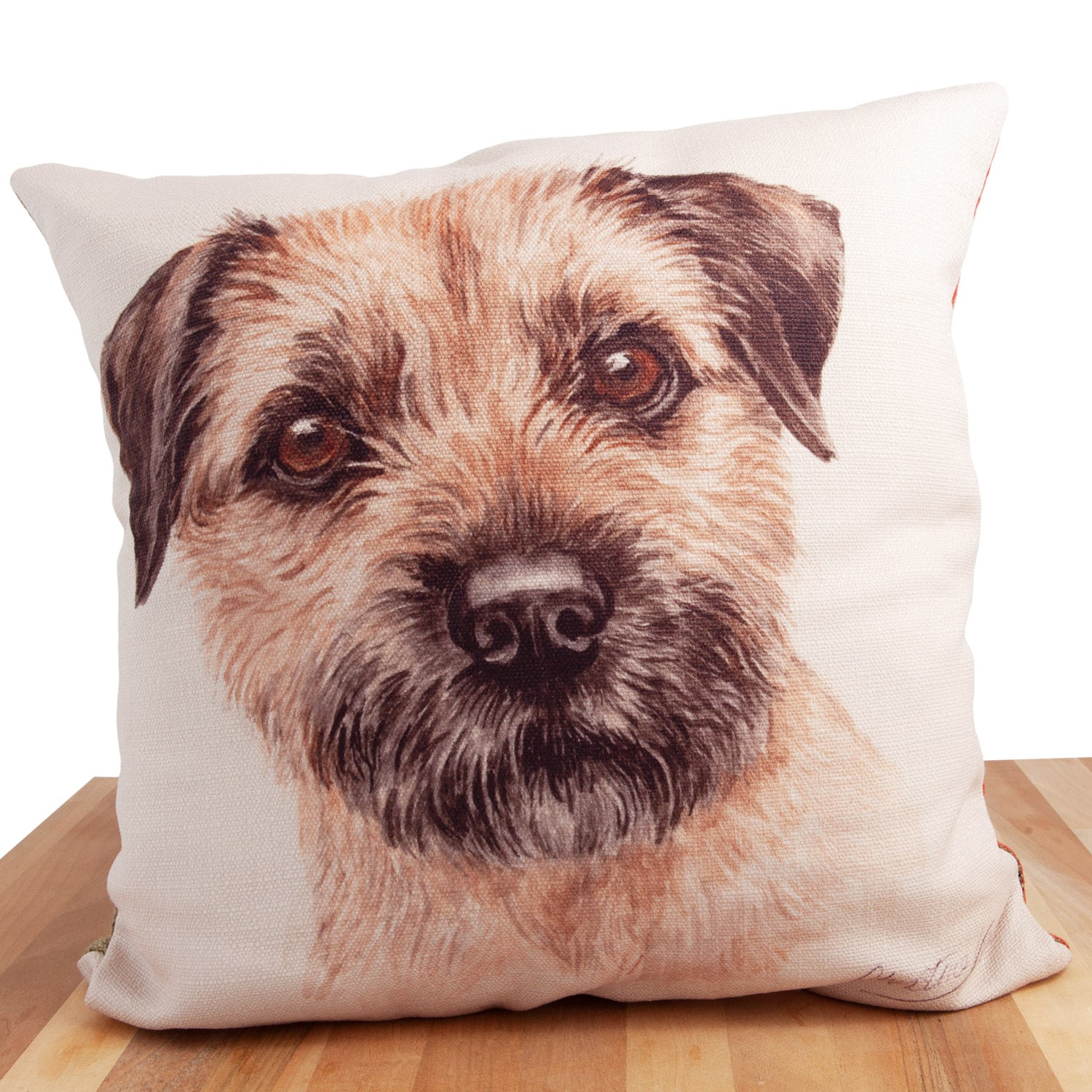 Dog Lover Gifts available at Dog Krazy Gifts. Border Terrier Cushion, part of our Christine Varley collection – available at www.dogkrazygifts.co.uk