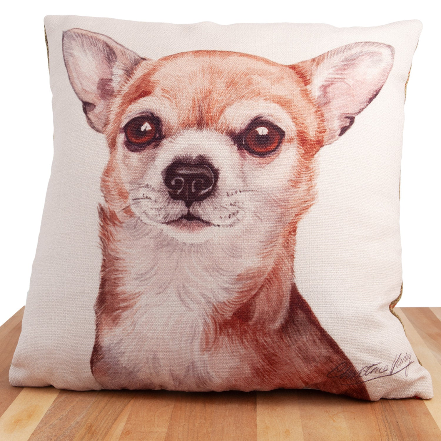 Dog Lover Gifts available at Dog Krazy Gifts. Chihuahua Cushion, part of our Christine Varley collection – available at www.dogkrazygifts.co.uk