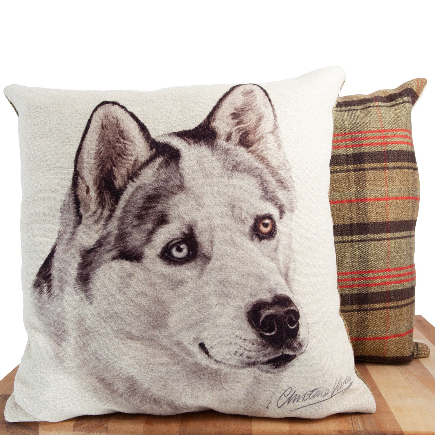 Dog Lover Gifts available at Dog Krazy Gifts. Husky Cushion, part of our Christine Varley collection – available at www.dogkrazygifts.co.uk