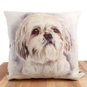 Dog Lover Gifts available at Dog Krazy Gifts. Shih Tzu Cushion, part of our Christine Varley collection – available at www.dogkrazygifts.co.uk