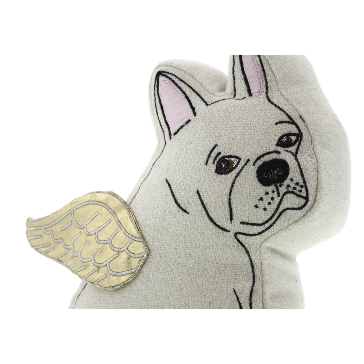 Dog Lover Gifts available at Dog Krazy Gifts – Cream French Bulldog Cushion – Gorgeously detailed and handcrafted luxury cushions part of the French Bulldog Range available from Dog Krazy Gifts