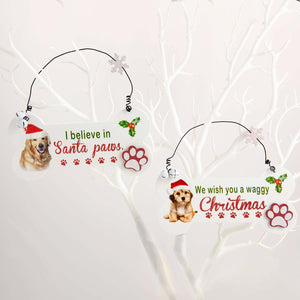 Dog Krazy Gifts - Santa Paws Christmas Bone Sign - part of the Christmas range of Dog Themed Gifts available from DogKrazyGifts.co.uk
