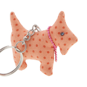 DogKrazy.Gifts –Orange Spot Scottie Dog Keyring –Extremely cute comes in six colourways, and makes a great gift for a Scottie Dog (or Westie) fan. Part of the range of Scottie Dog and Westie  gifts available from Dog Krazy Gifts