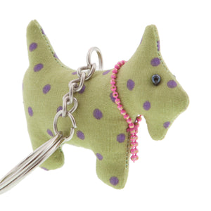 DogKrazy.Gifts –Purple Spot Scottie Dog Keyring –Extremely cute comes in six colourways, and makes a great gift for a Scottie Dog (or Westie) fan. Part of the range of Scottie Dog and Westie  gifts available from Dog Krazy Gifts