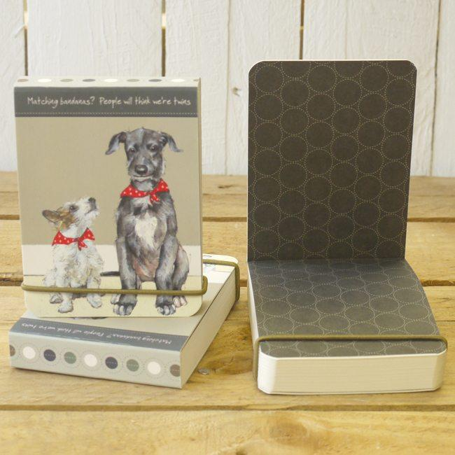 Dog Krazy Gifts - Twins Flip notebook - part of the Little Dog Range available from DogKrazyGifts.co.uk
