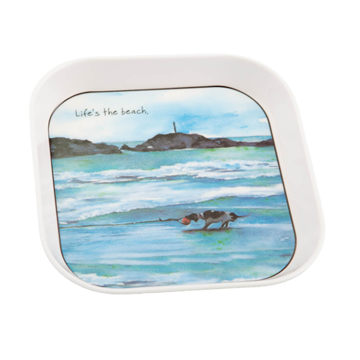 DogKrazyGifts - Life's The Beach Trinket or Mug Tray - Part of the digs & manor range available from Dog Krazy GiftsL