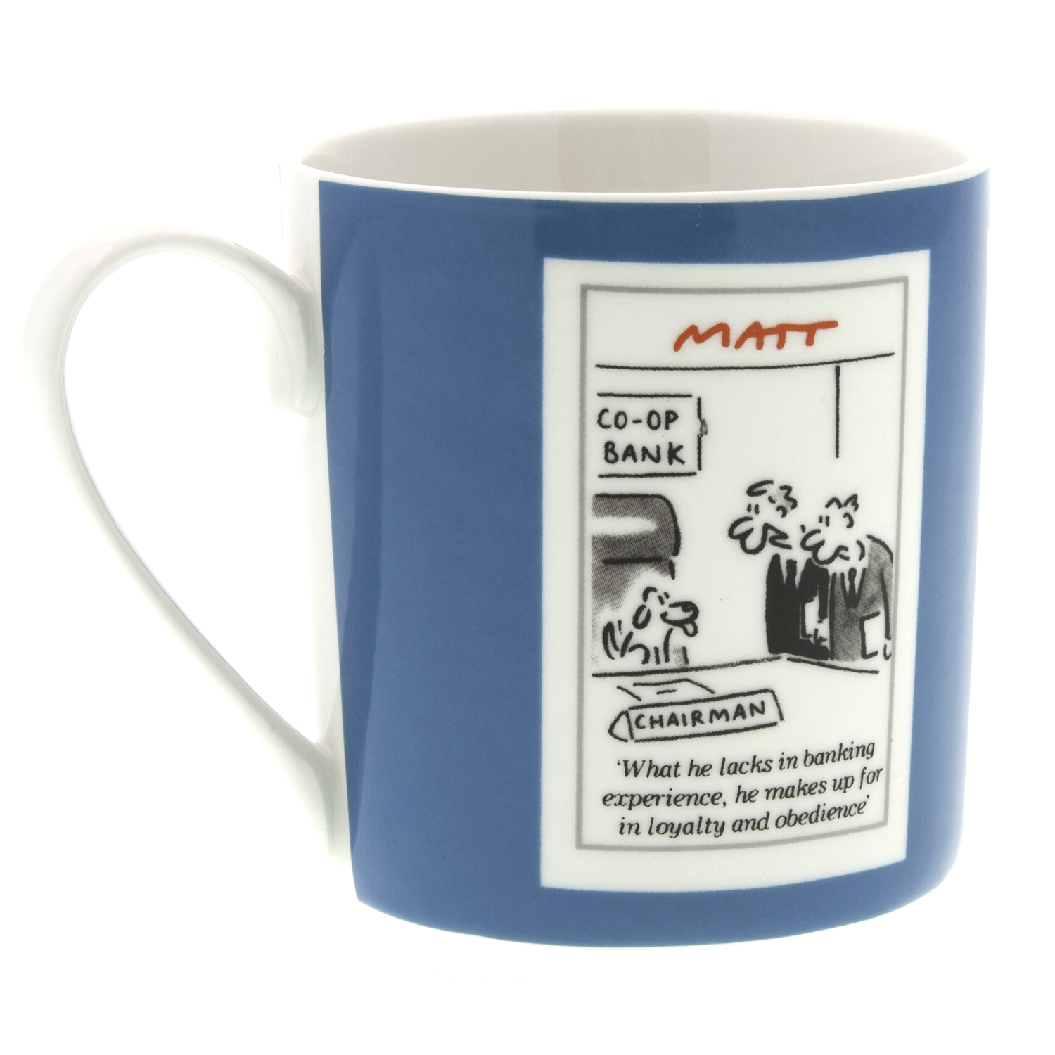 DogKrazy.Gifts - Matt, Man's Best Friend featuring 3 of Matts side-splitting dog cartoons, this 350ml bone china mug is Microwave and Dishwasher safe.  Matt produces cartoons for the Daily Telegraph, Sunday Telegraph and Telegraph.