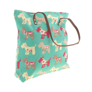 Dog Krazy Gifts – Mint Scottie Dog Shopping Bag, part of the Scottish Terrier range of products available from DogKrazyGifts.co.uk