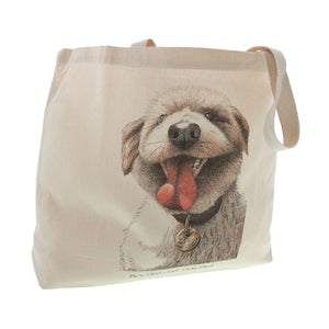 Dog Lover Cards, Gifts and merchandise available at Dog Krazy Gifts - Buy On Get One Flea Tote Bag - Part of the Simon Drew dog collection available from Dog Krazy Gifts