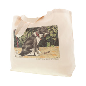 Dog Lover Cards, Gifts and merchandise available at Dog Krazy Gifts - Everyday Is Chewsday Bag - Part of the Simon Drew dog collection available from Dog Krazy Gifts