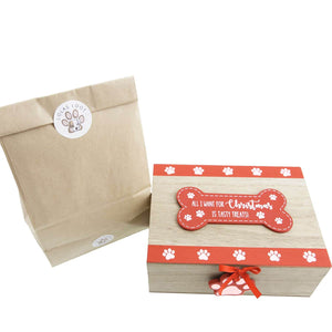 Dog Krazy Gifts - Xmas Eve Dog Treat Box With Natural Treats part of our Christmas range available at www.DogKrazyGifts.co.uk