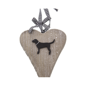 Dog Lover Gifts available at Dog Krazy Gifts – Bailey & Friends shabby chic wooden heart. For the Love of Labradors