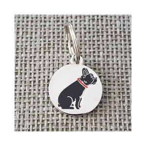 Dog Lover Gifts available at Dog Krazy Gifts - Freddie The French Bulldog Cufflink and Dog Tag Set - part of the Sweet William range available from Dog Krazy Gifts
