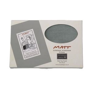 DogKrazy.Gifts - Matt, Crossword Dog - Gift Boxed Tea Towel side-splitting dog cartoon, this 100% cotton tea towel comes gift-boxed.  Matt produces cartoons for the Daily Telegraph, Sunday Telegraph and Telegraph. Dog Krazy Gifts stock a range of products based on Matt's work