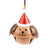 DogKrazy.Gifts – Christmas Tree bell bauble in the shape of a Brown and Tan Dog's head available from Dog Krazy Gifts