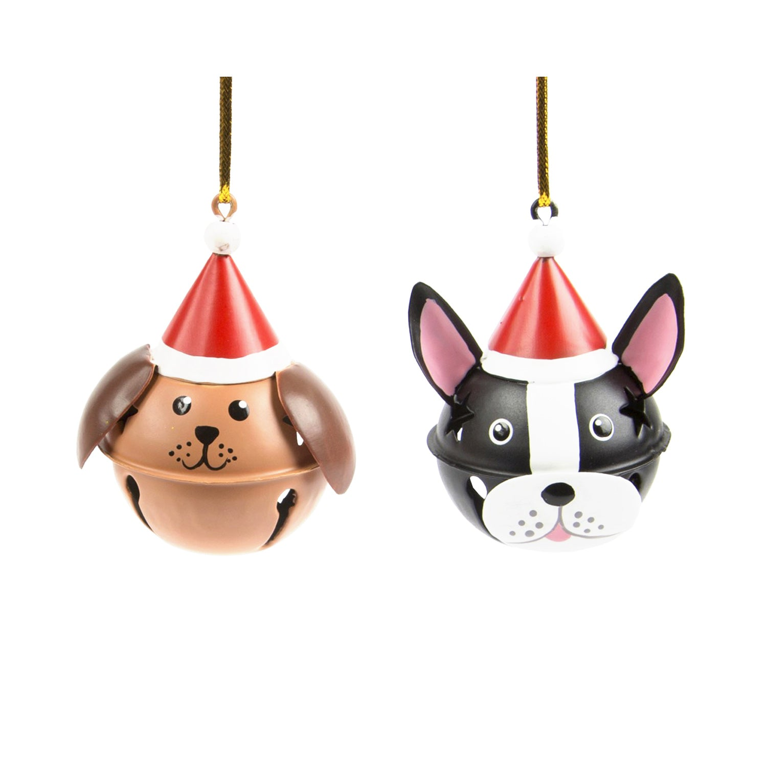 DogKrazy.Gifts – Christmas Tree bell bauble in the shape of a Dog's head available from Dog Krazy Gifts