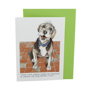 DogKrazyGifts - Dear Lord, Please Make Me Card - Part of the Simon Drew dog collection available from Dog Krazy Gifts
