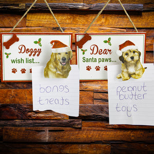 Dog Lover Gifts available at Dog Krazy Gifts - Doggy Wish List Signs part of the Christmas range available from DogKrazyGifts.co.uk