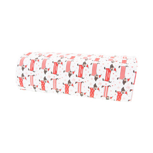 DogMad.Gifts – Dachshund Christmas Wrapping Paper – Dog Themed Christmas Wrapping paper with cartoon Dachshunds wearing Christmas Jumpers part of the huge range of dog themed gifts available from Dog Mad Gifts