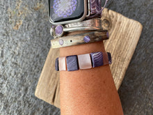 Wampum tile bracelet with PINK mother of pearl
