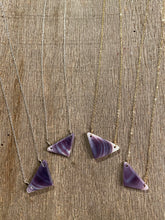 Wampum triangle pendent
