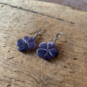 Wampum earring FLOWER