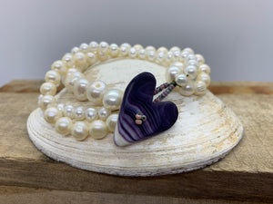 Wampum and pearl bracelet