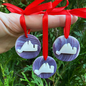 Wampum Christmas ornaments