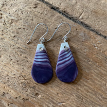 Wampum earring classic tear drop